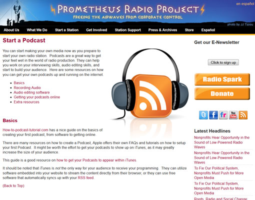 Prometheus Radio Project - How to start a podcast